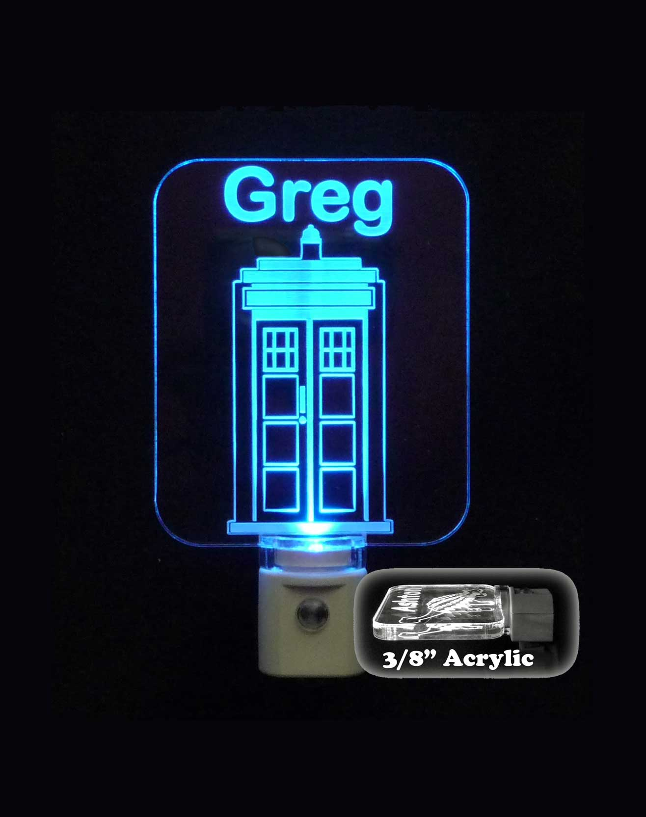 Personalized Dr. Who Tardis Night Light LED