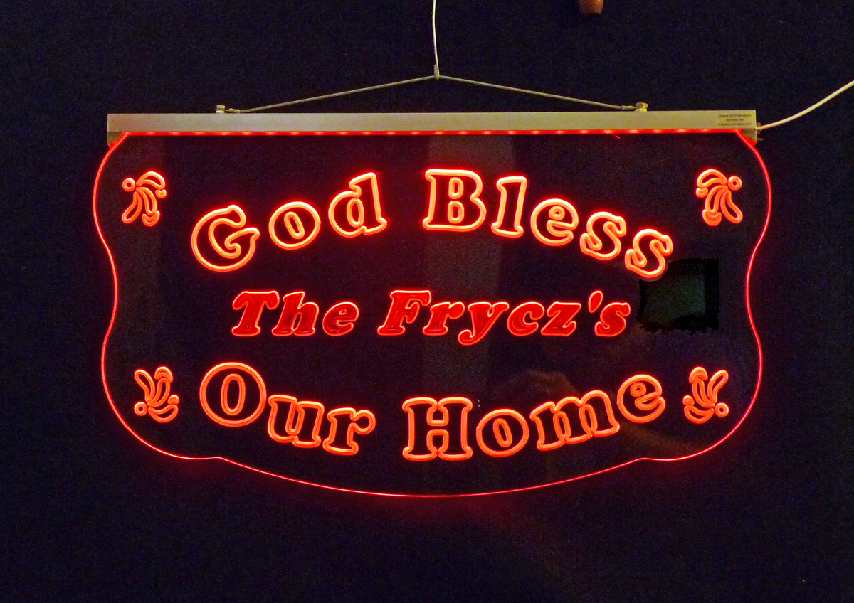 Christian Personalized  LED Hanging Sign