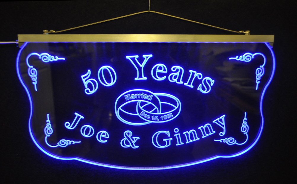 Personalized  LED Wedding Anniversary Sign