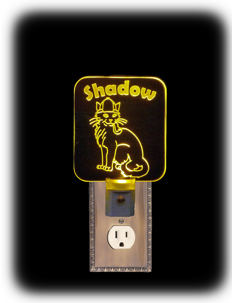 Personalized Inspector Cat LED Night Light
