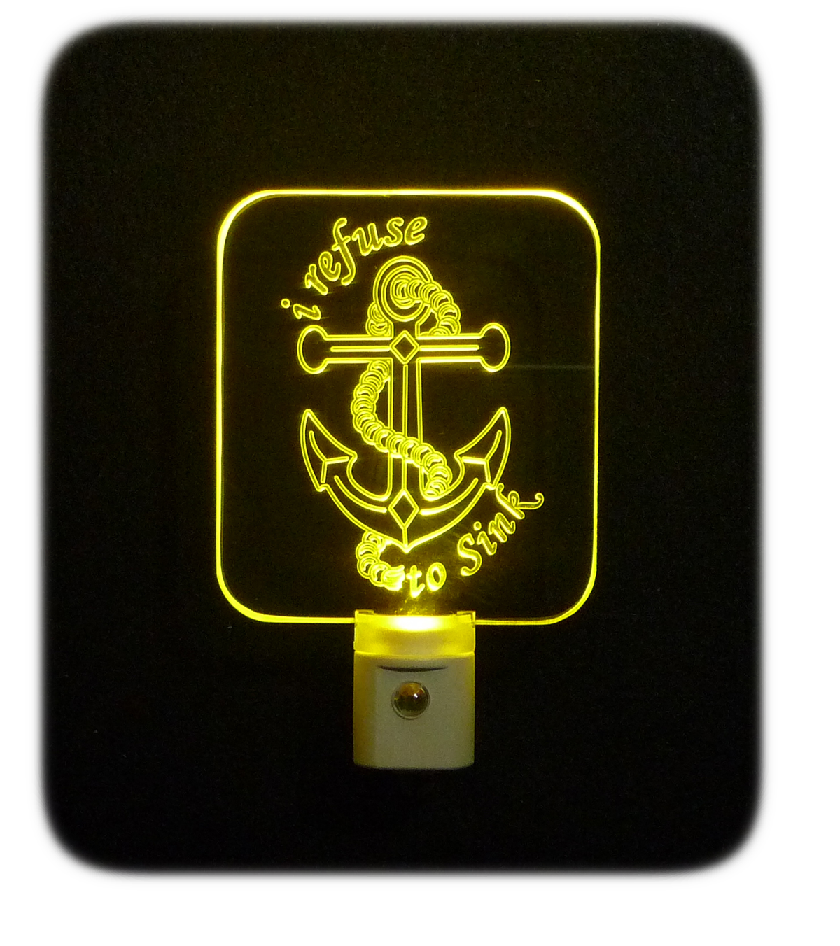 Personalize Anchor Nautical LED Night Light - I refuse to sink