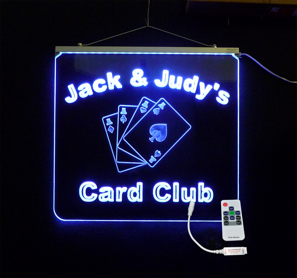 Personalized  LED, Card Room, Man Cave Sign