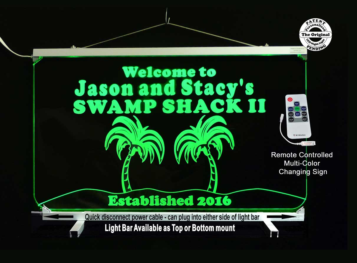 Personalized Bar Sign, Man Cave Sign, Palm Trees