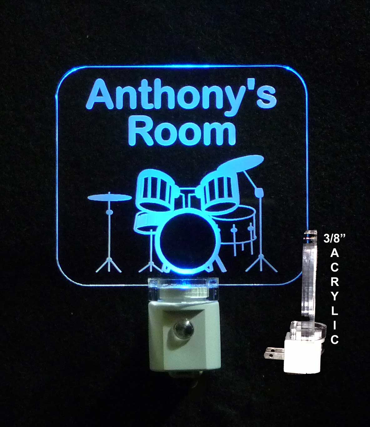 Drum set night light
