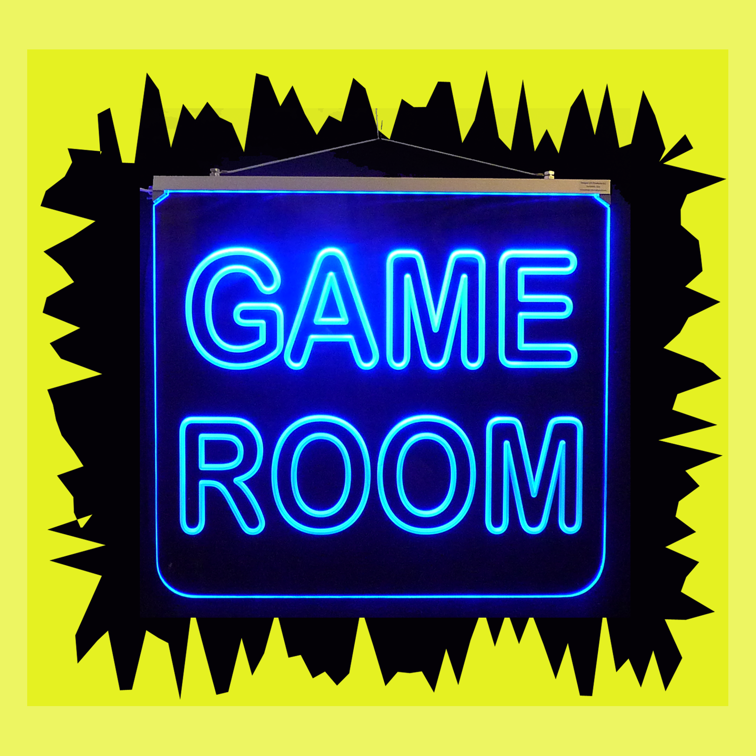 LED Game Room Hanging Sign, Color Changing Man Cave Sign