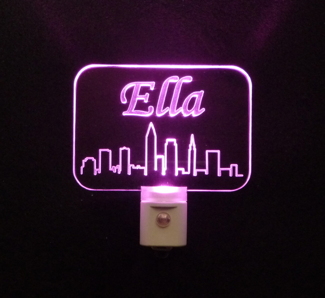Personalized Cleveland Skyline LED Night Light