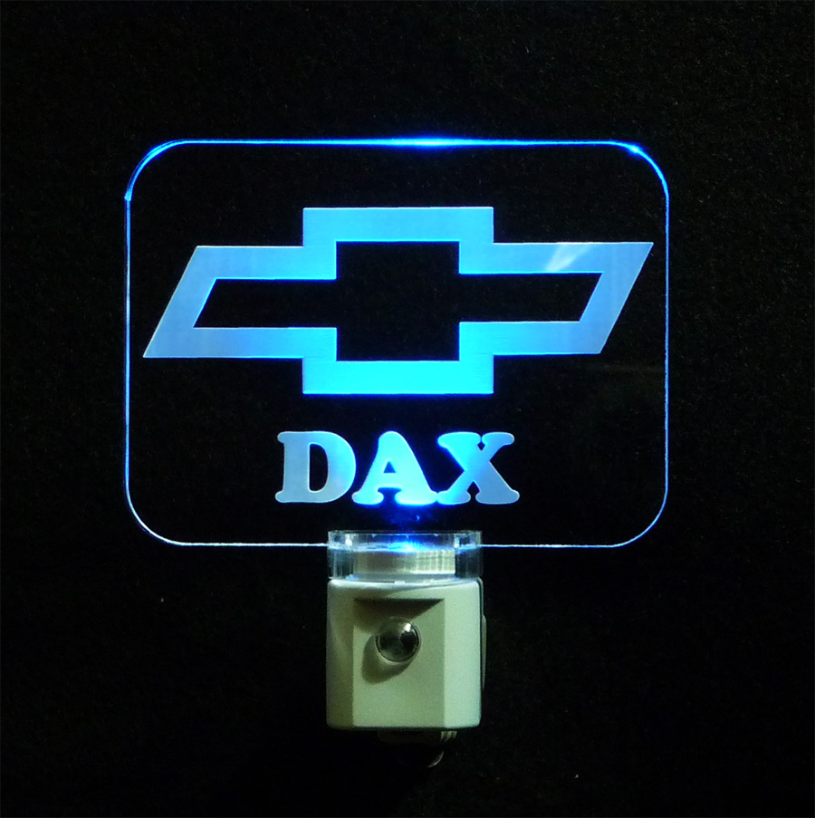 Personalized Chevy Logo LED Night Light