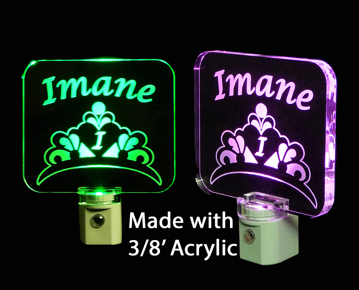 Personalized  Princess Crown LED Night Light