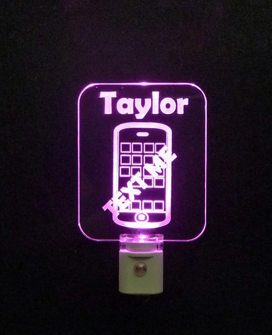 Cell Phone Personalized LED Night Light
