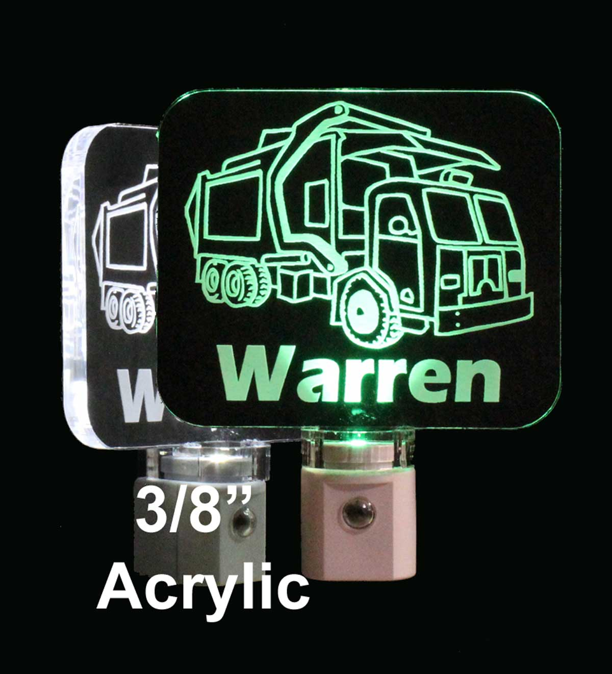 Kids Personalized Garbage Truck LED Night Light