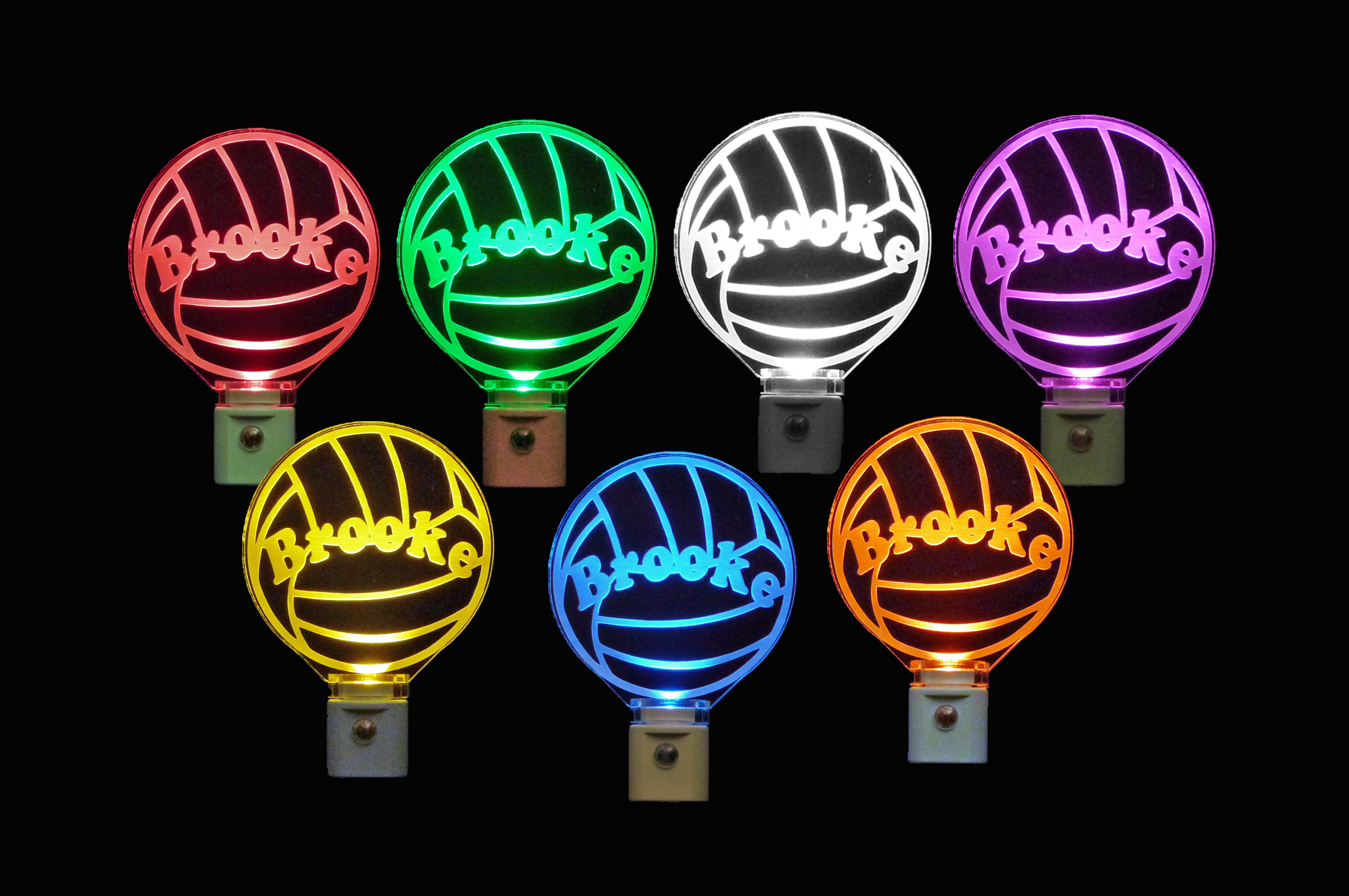 Volleyball Night Light Personalized LED