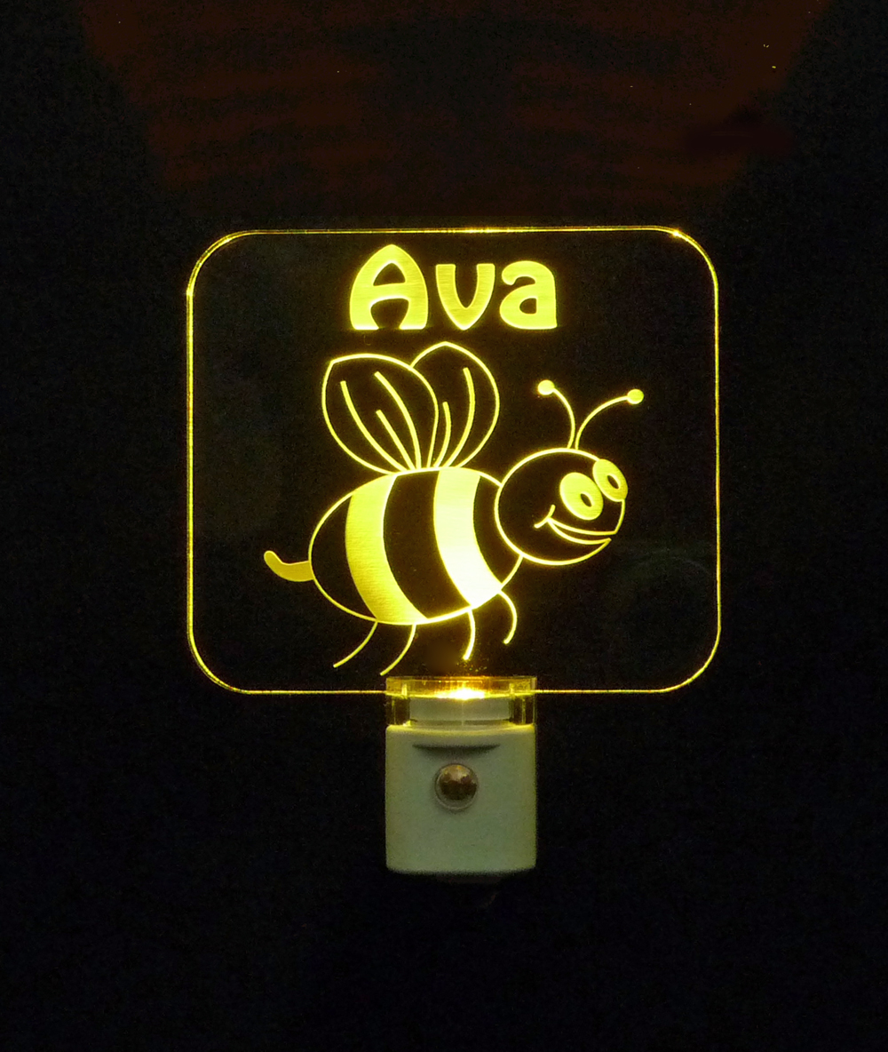 Bumble Bee Personalized LED Night Light