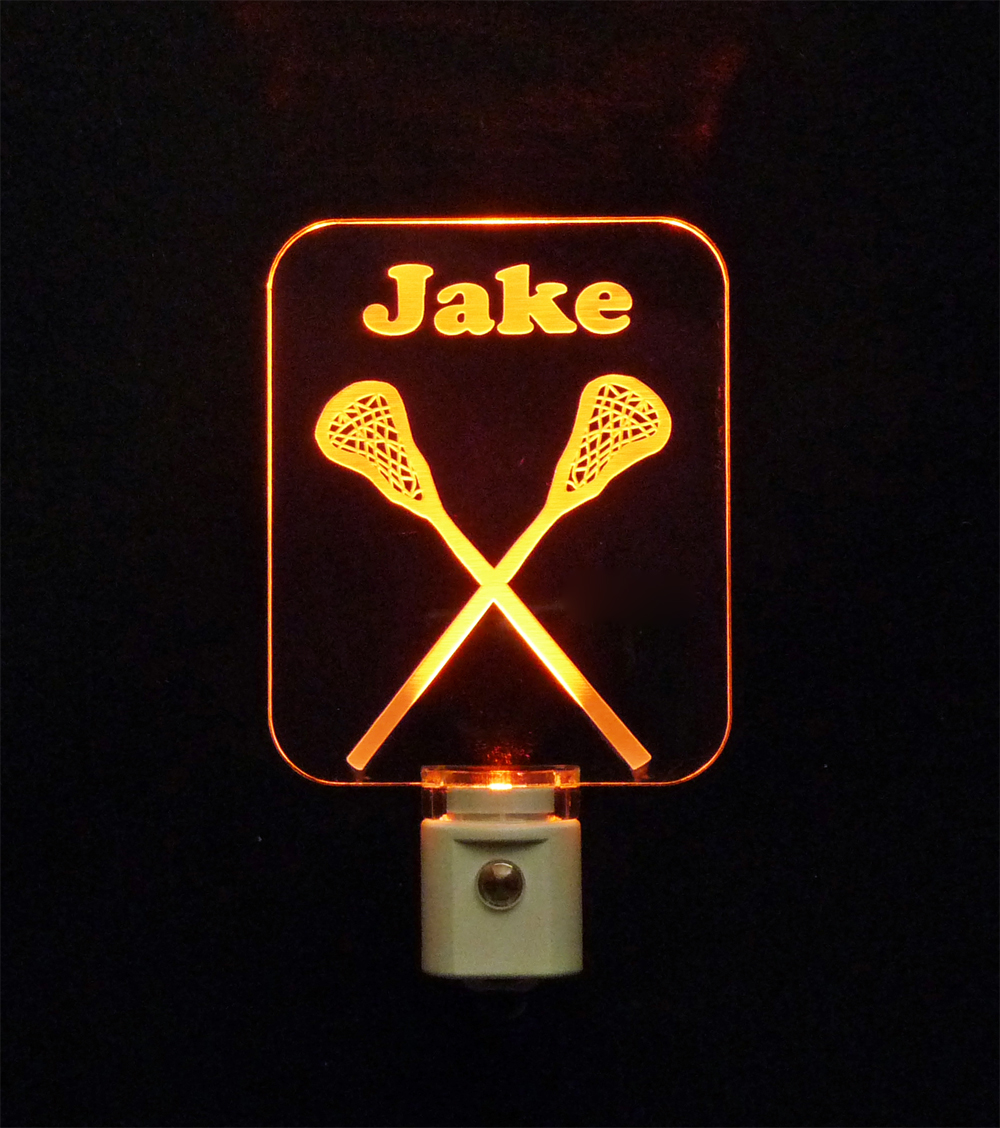 Lacrosse Night Light Personalized with name LED