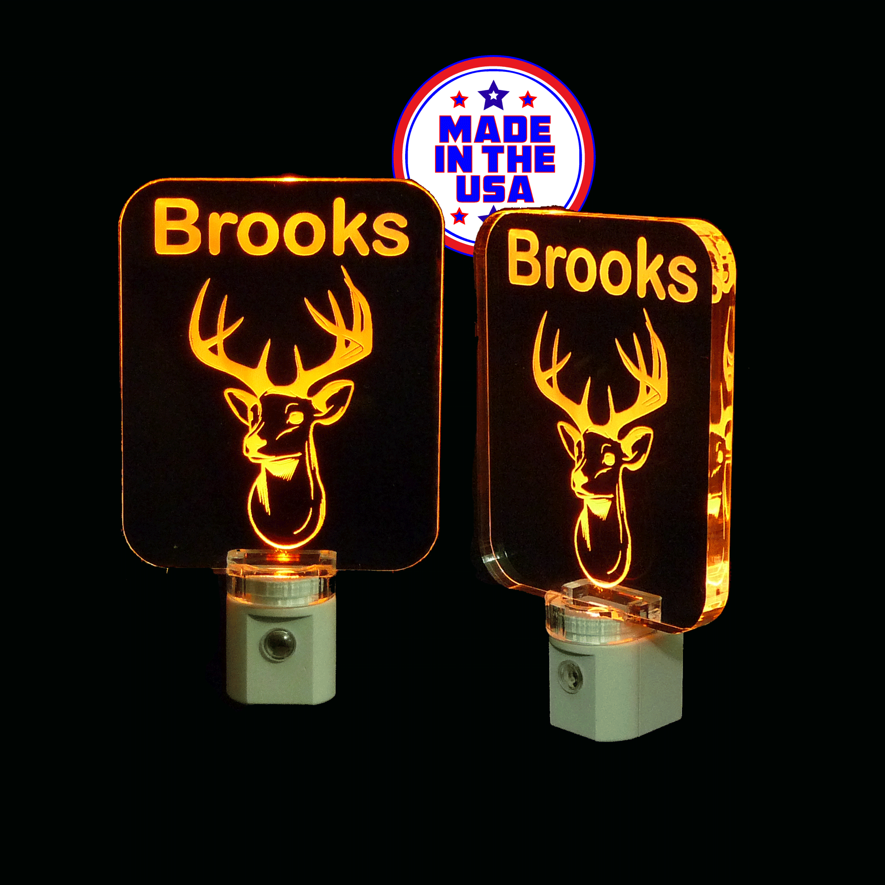 Deer Night Light, Personalized
