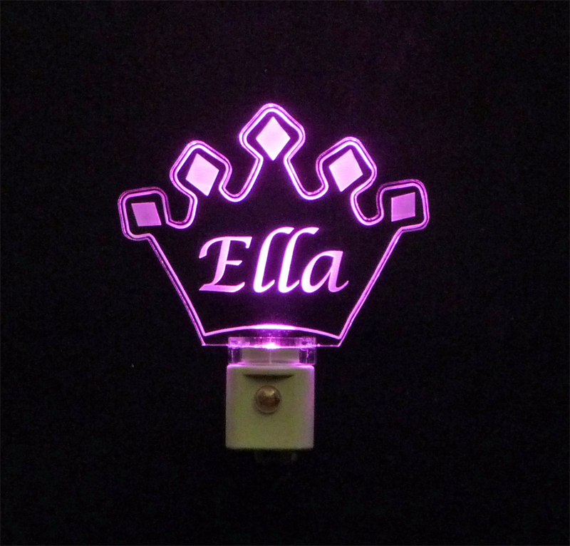 Personalized  Crown LED Night Light