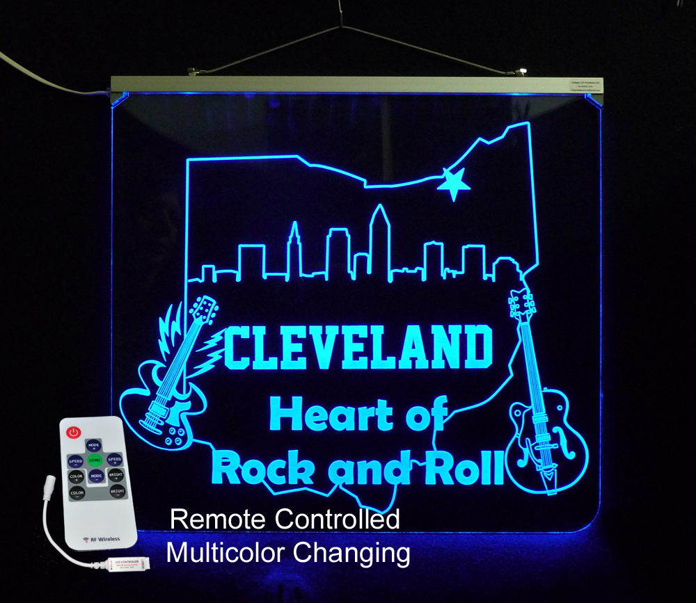 LED Cleveland Sign - Heart of Rock N Roll