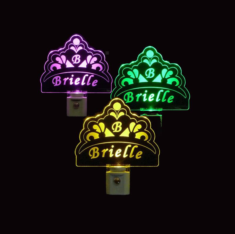 Personalized Princess Crown Shaped LED Night Light