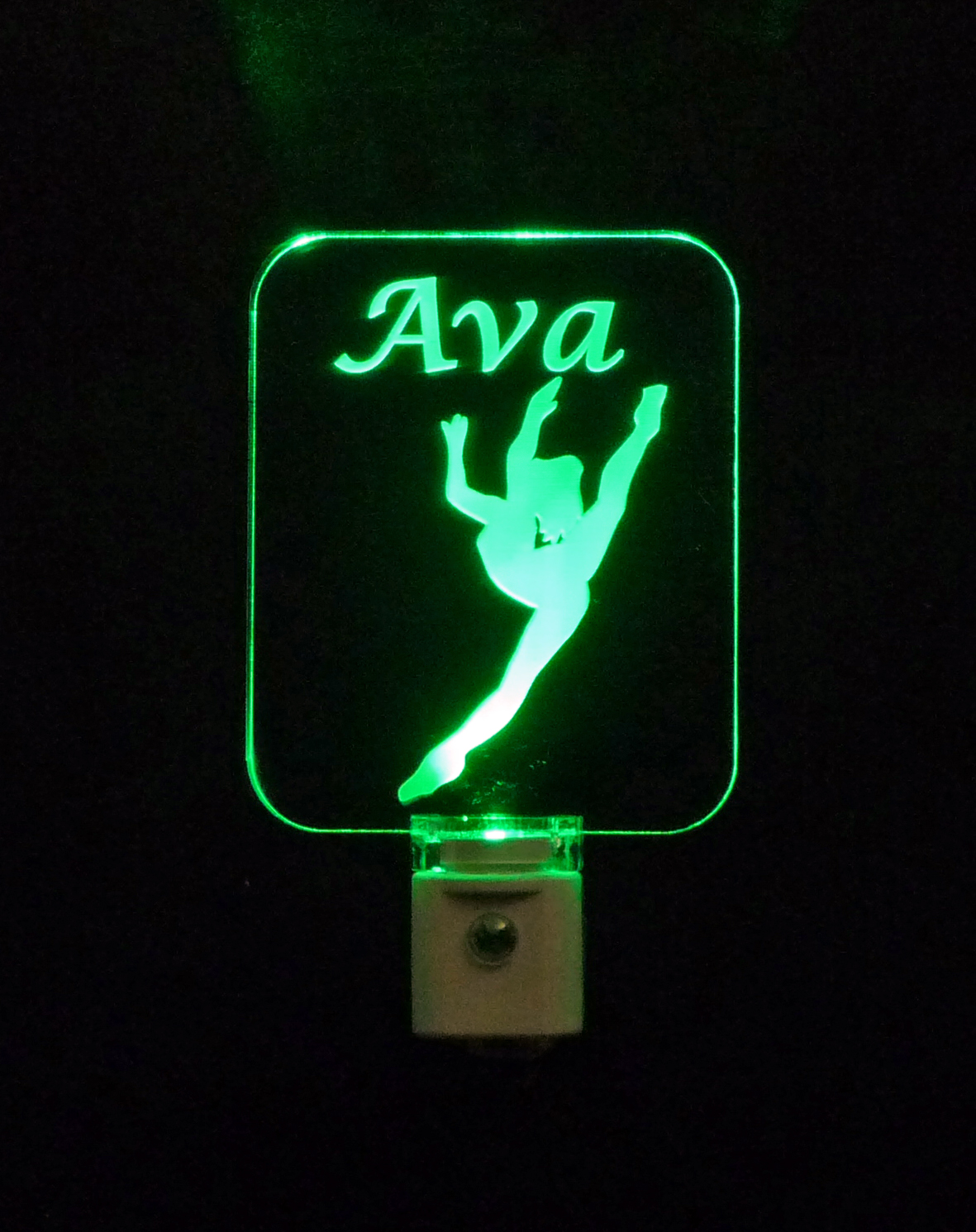 Girls Ballerina Dancer Personalized LED Night Light