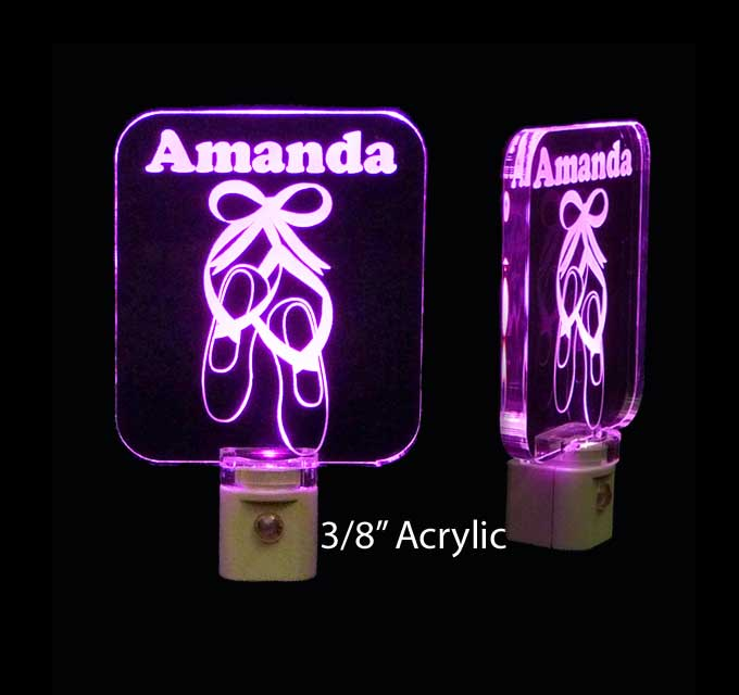 Girls Ballerina Slippers Personalized LED Night Light