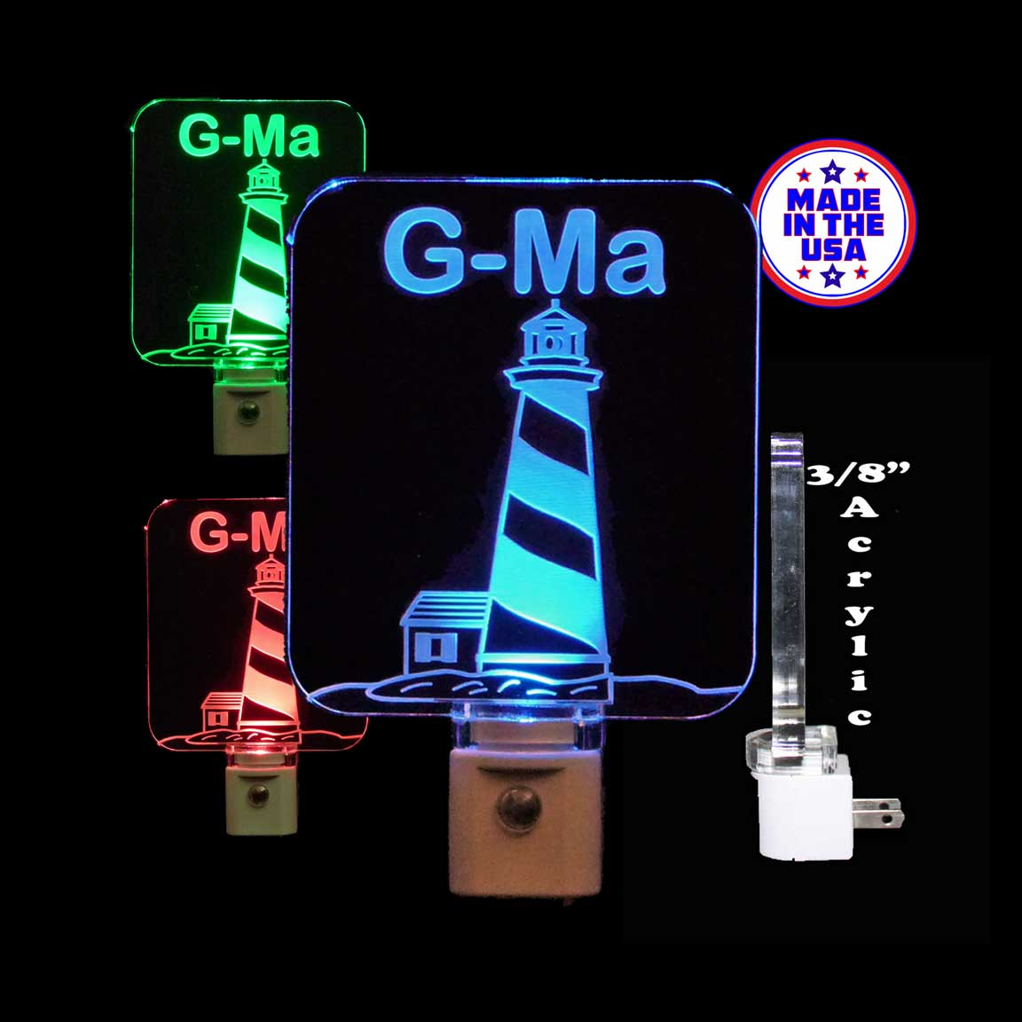 Lighthouse Personalized LED Night Light