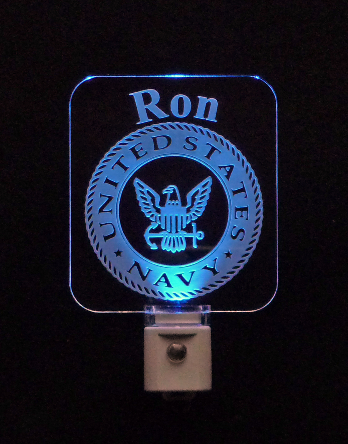 United States Navy Personalized LED Night Light