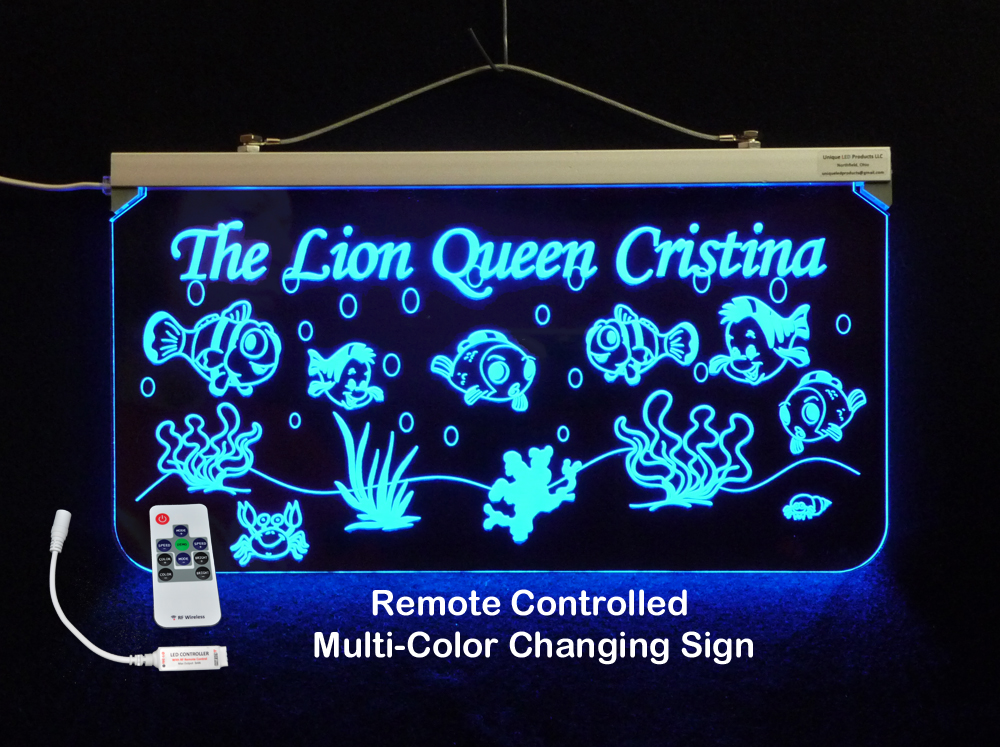 Aquarium Fish Tank Personalized LED Sign - Neon LED