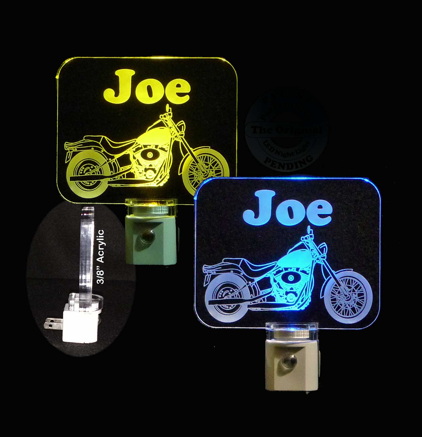 Personalized Motorcycle LED Night Light