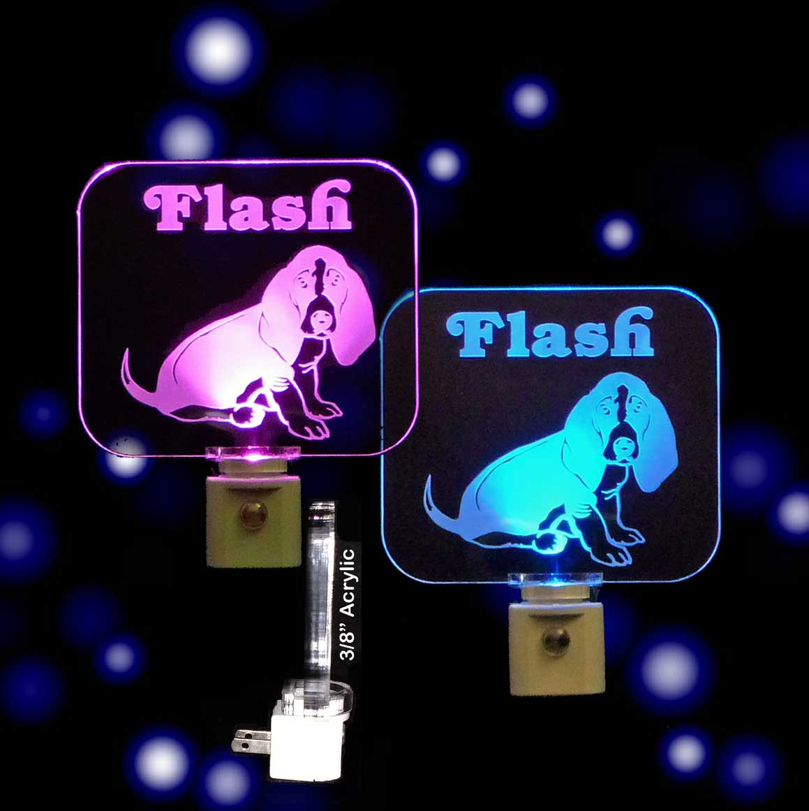 Personalized Basset Hound Dog LED Night Light