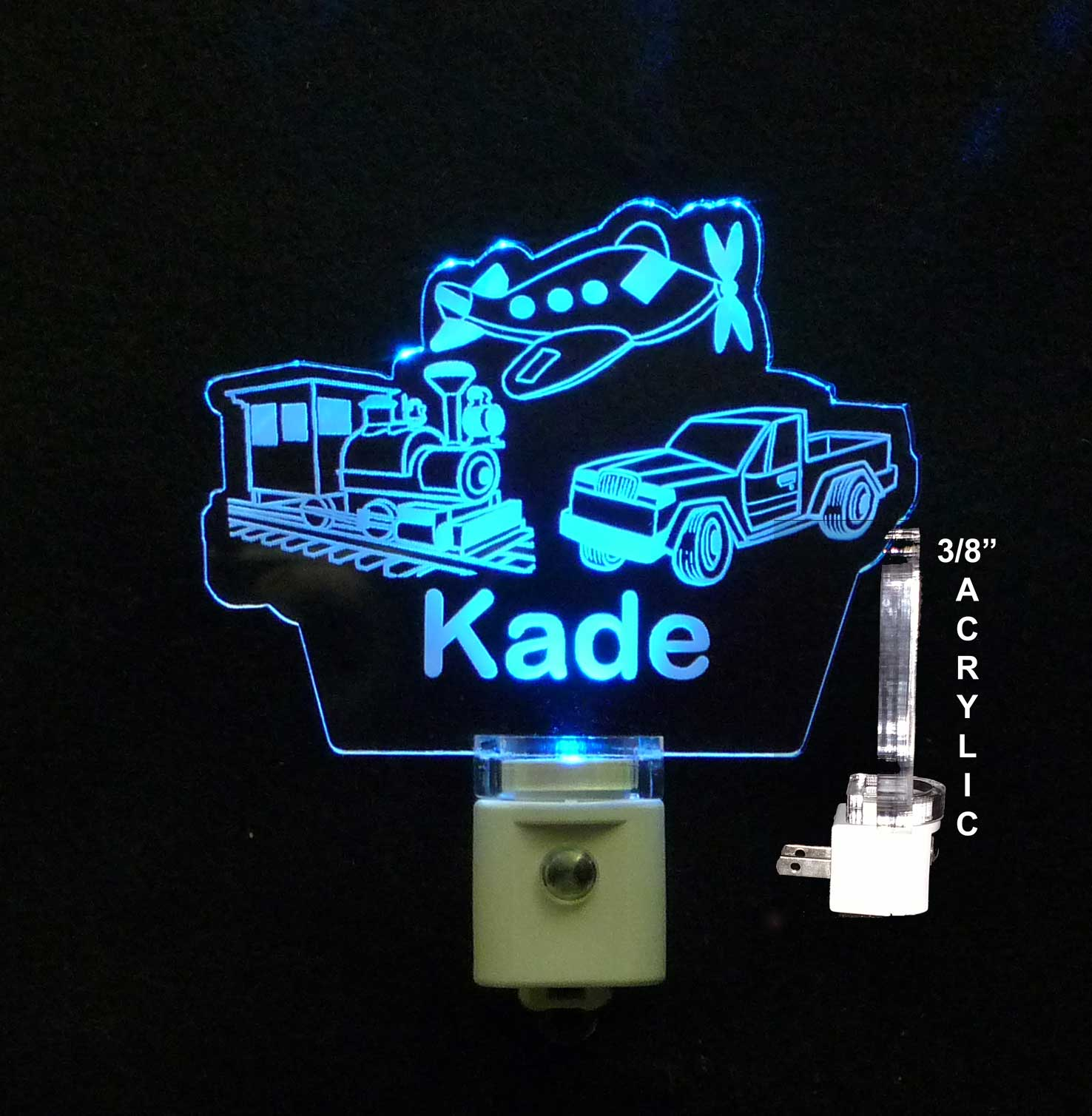 Personalized Train, Airplane, Truck LED Night Light