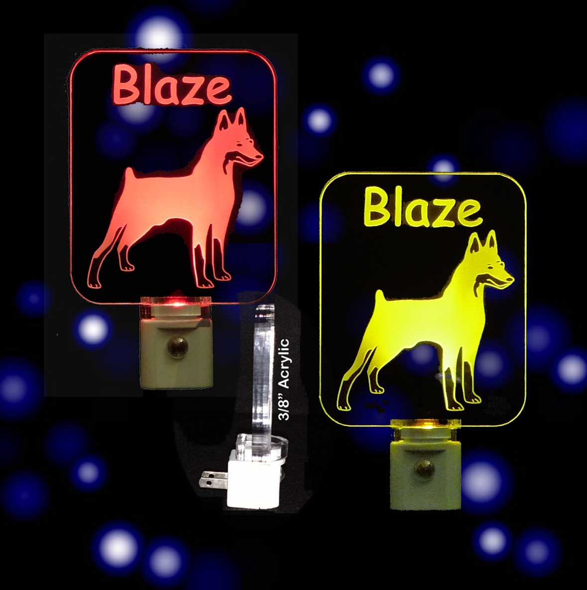 Miniature Pinscher  Personalized LED Night Light