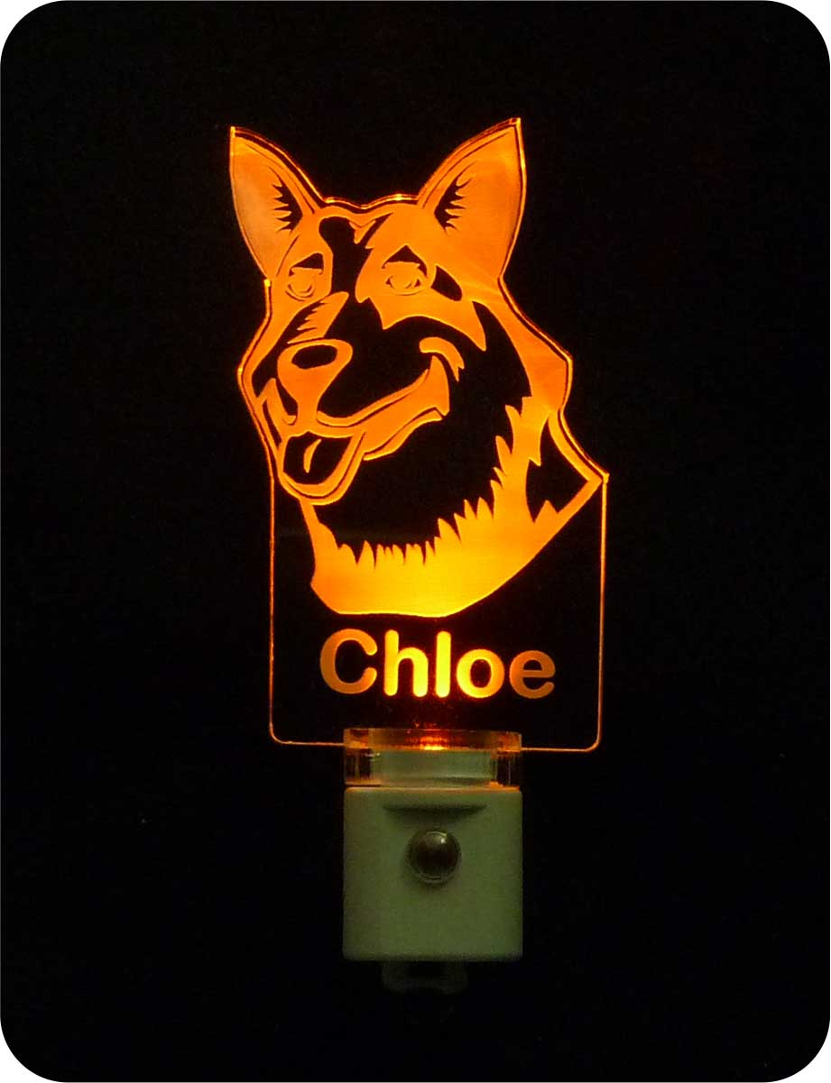 Dog Personalized Night Light - Australian Cattle Dog