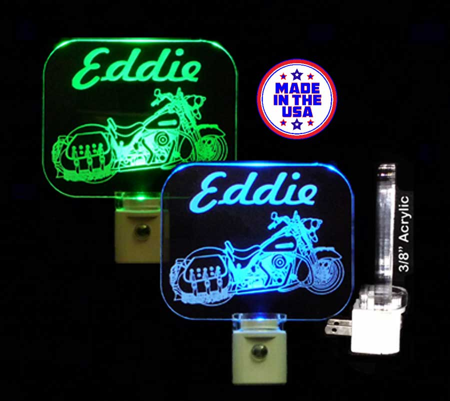 Personalized LED Motorcycle Night Light