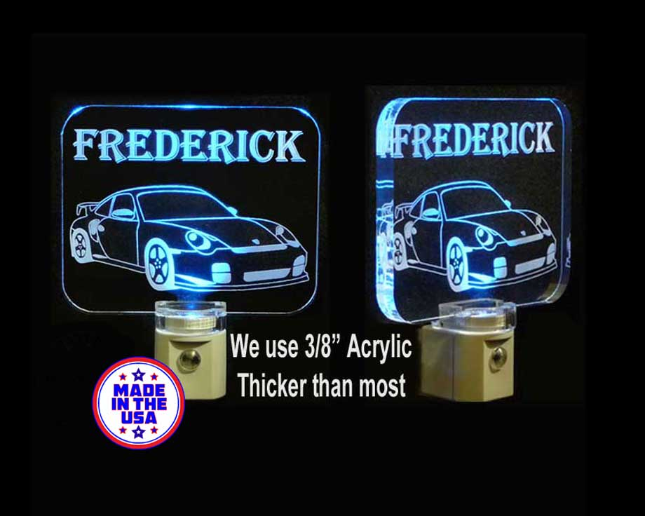 Personalized  Race Car LED Night Light