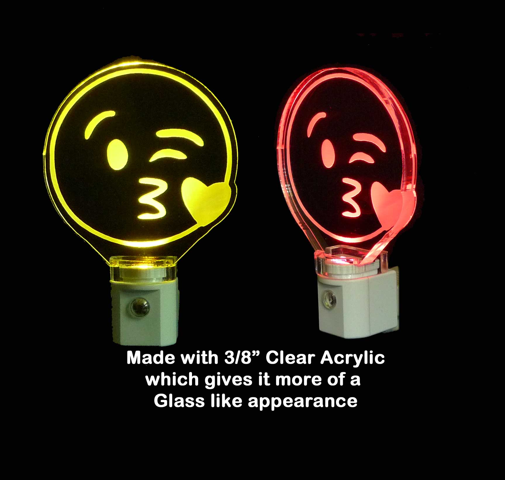 Kissy Heart Emoji LED Night Light