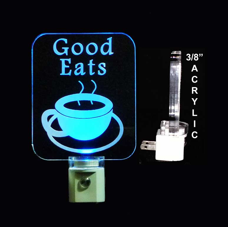 Personalized Coffee Cup LED Night Light