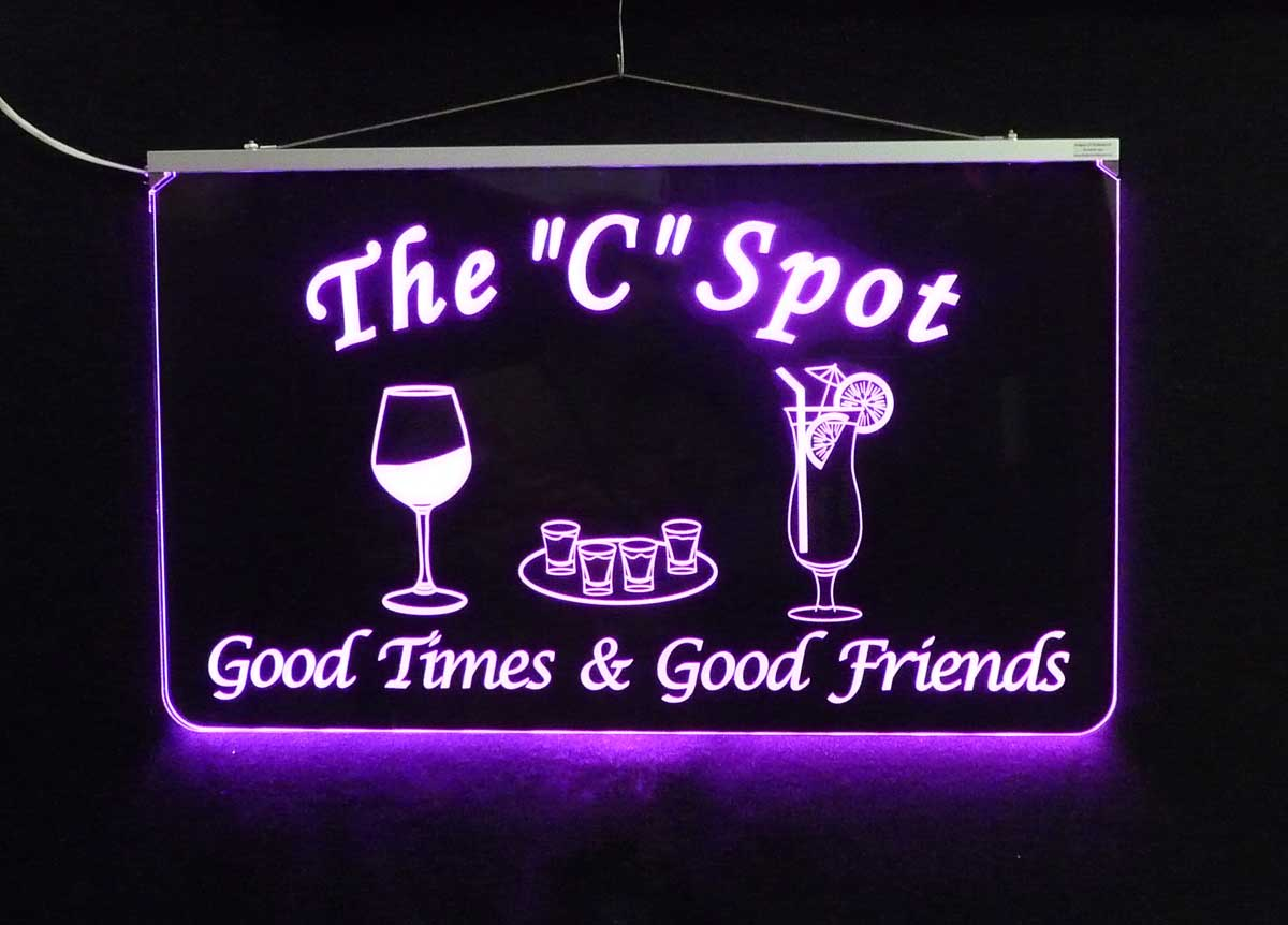 Personalized LED Bar Sign, Man Cave Sign
