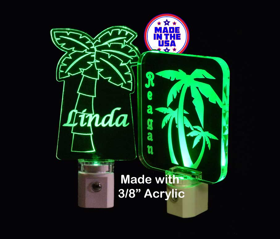 Palm Tree LED Night Light Personalized