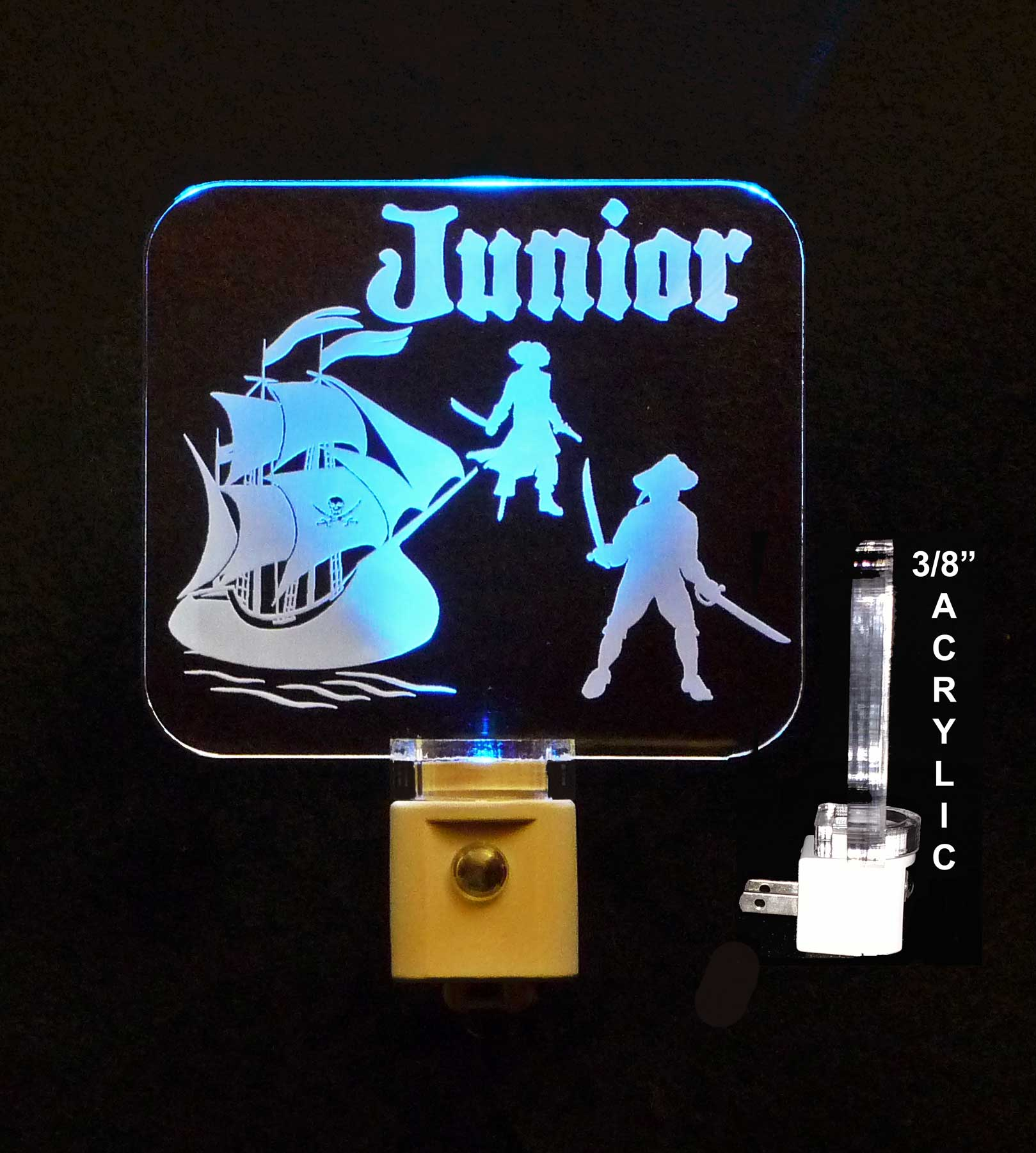 Personalized Pirate Ship LED Personalized Night Light - Sailboat light