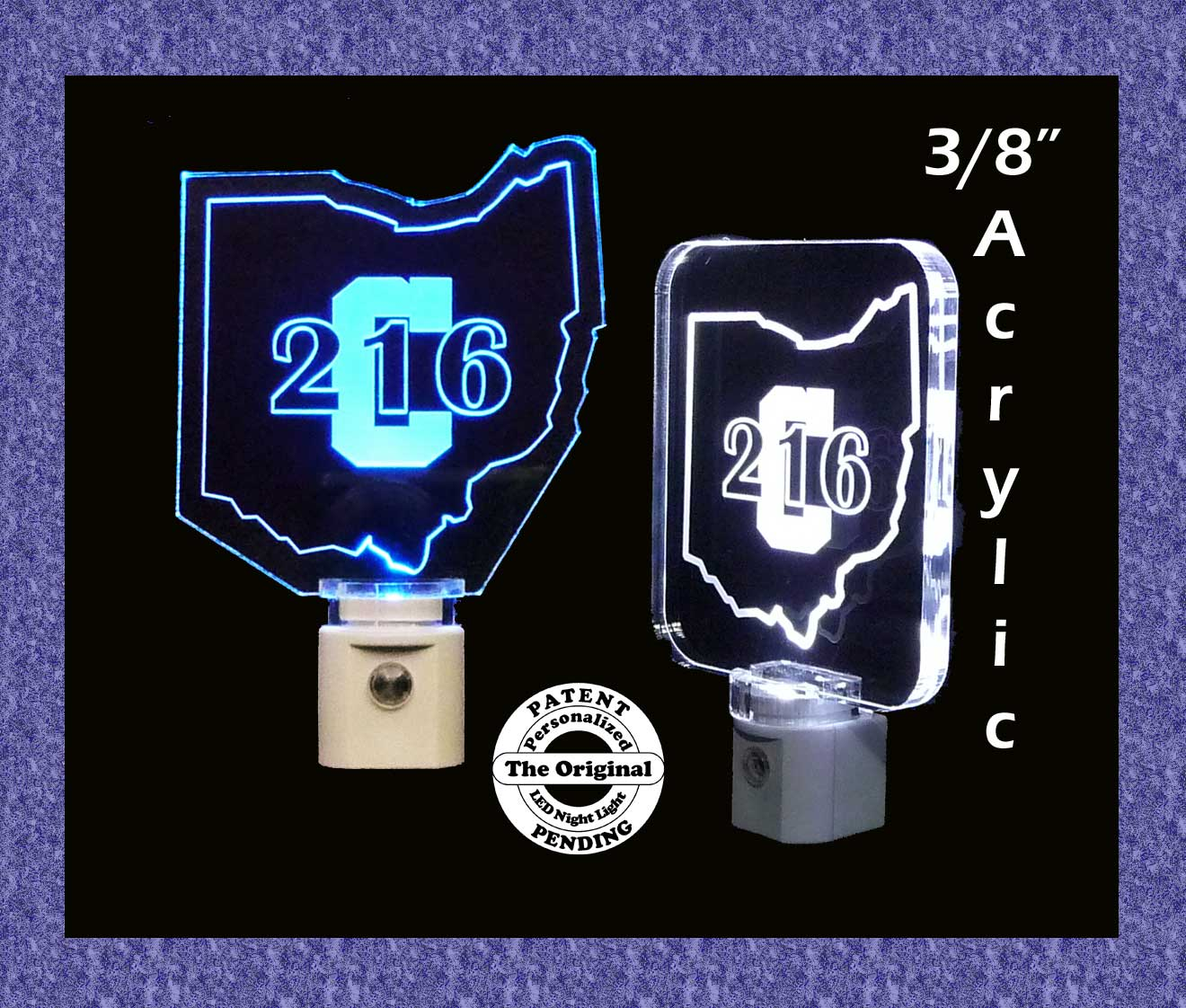 Cleveland Ohio 216 LED Night Light