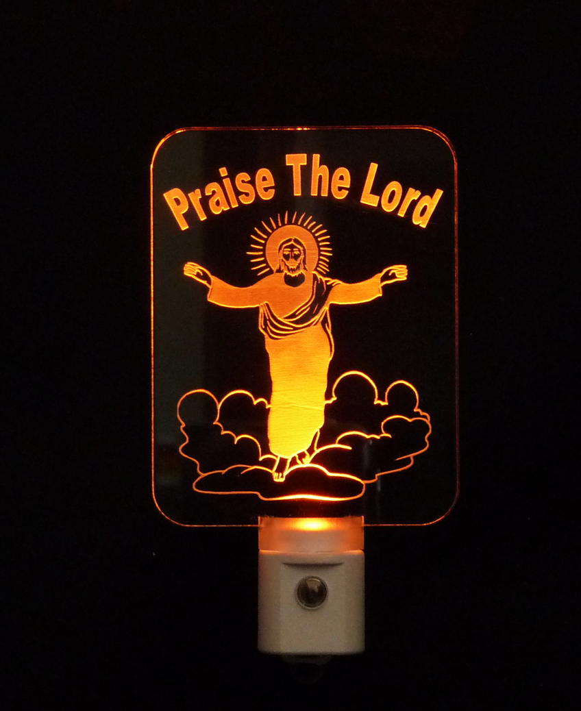Christian Praise the Lord Jesus LED Night Light