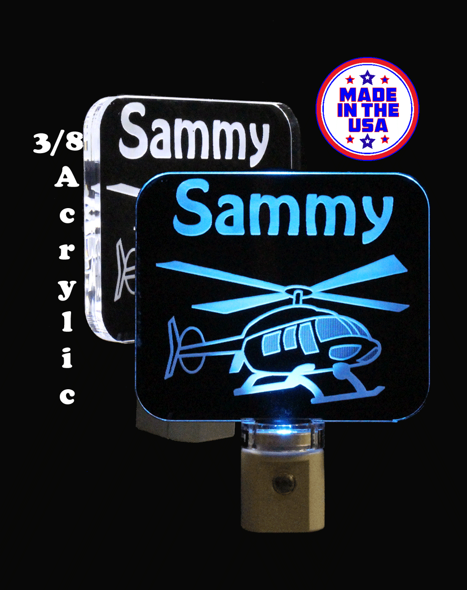 Personalized LED Helicopter Night Light