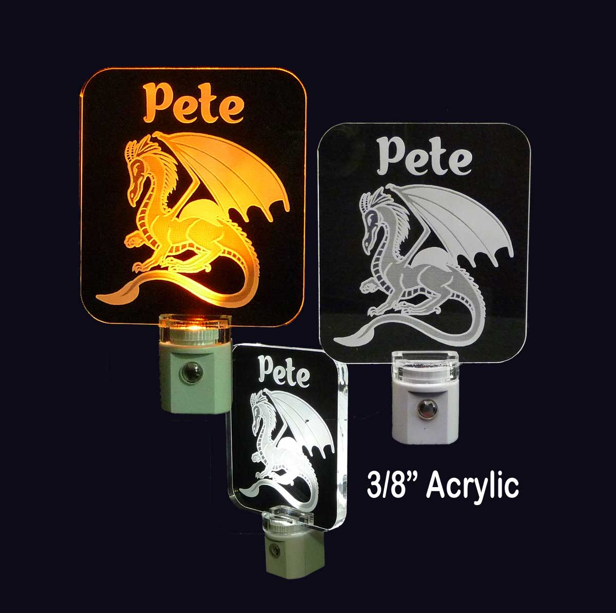 Personalized Dragon LED Night Light