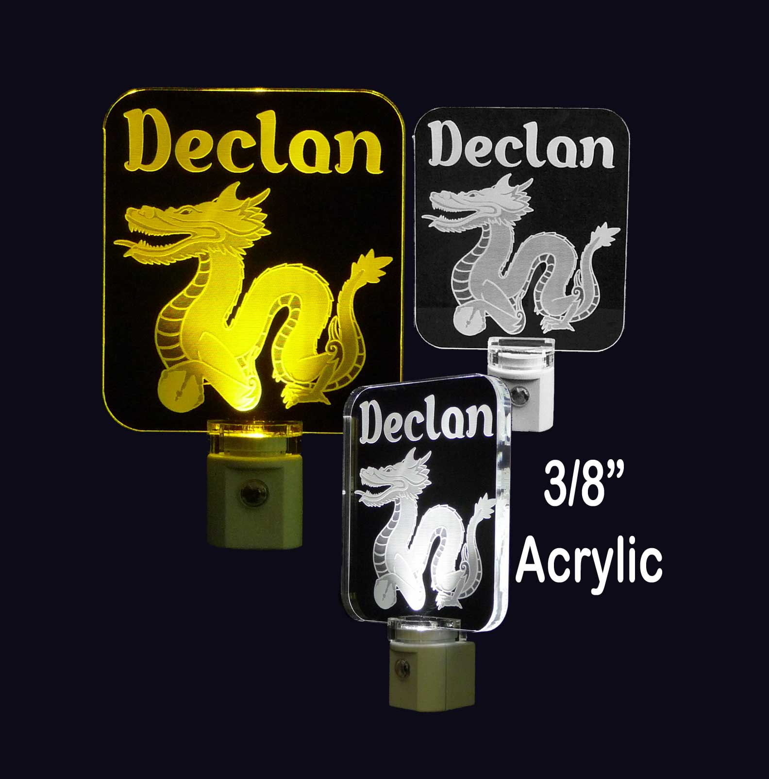 Kids Dragon Personalized LED Night Light