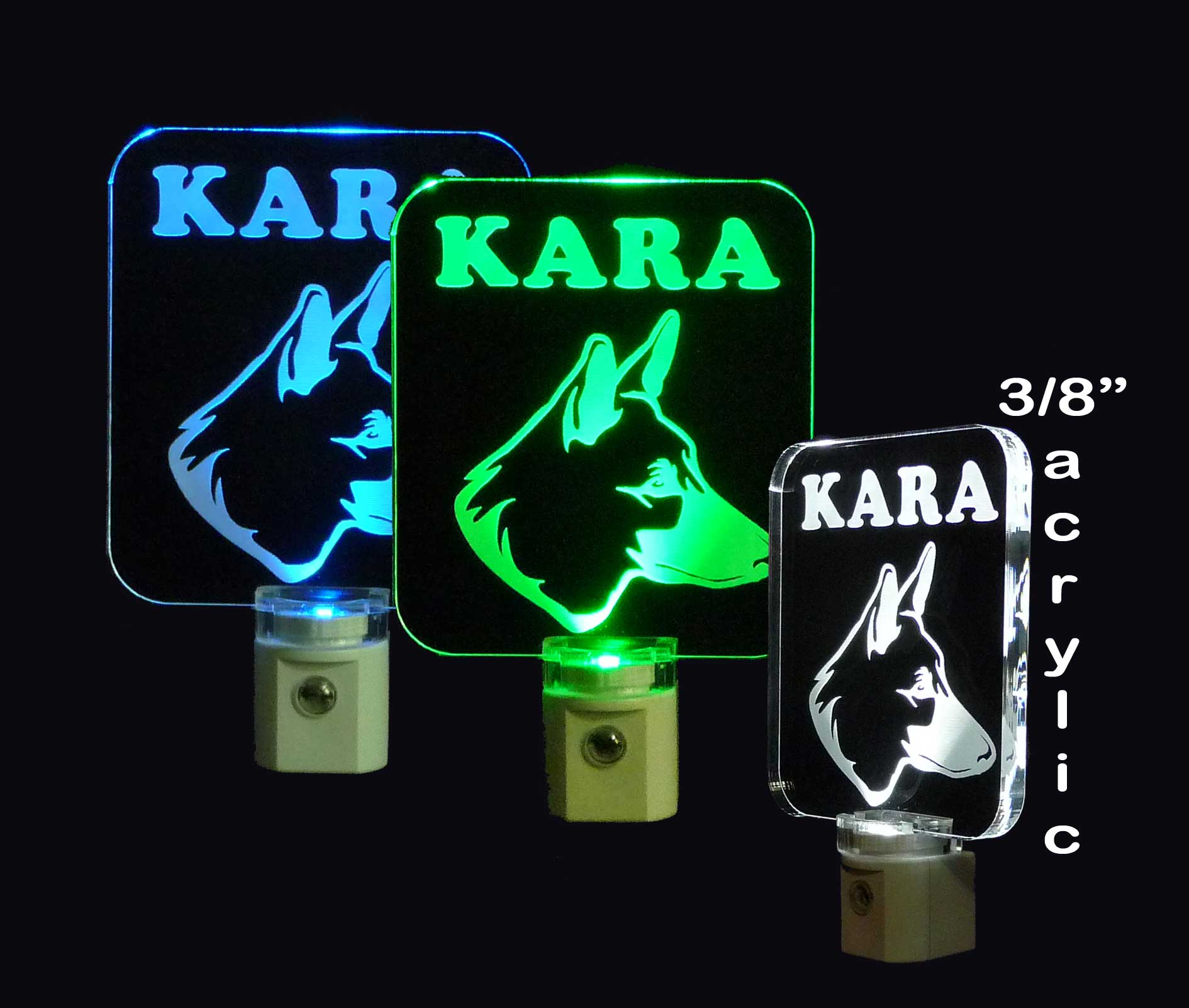 Personalized German Shepard Dog LED Night Light