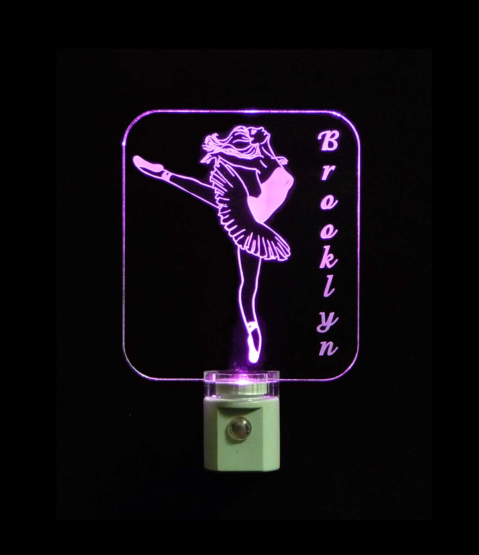 Girls Ballerina Personalized LED Night Light