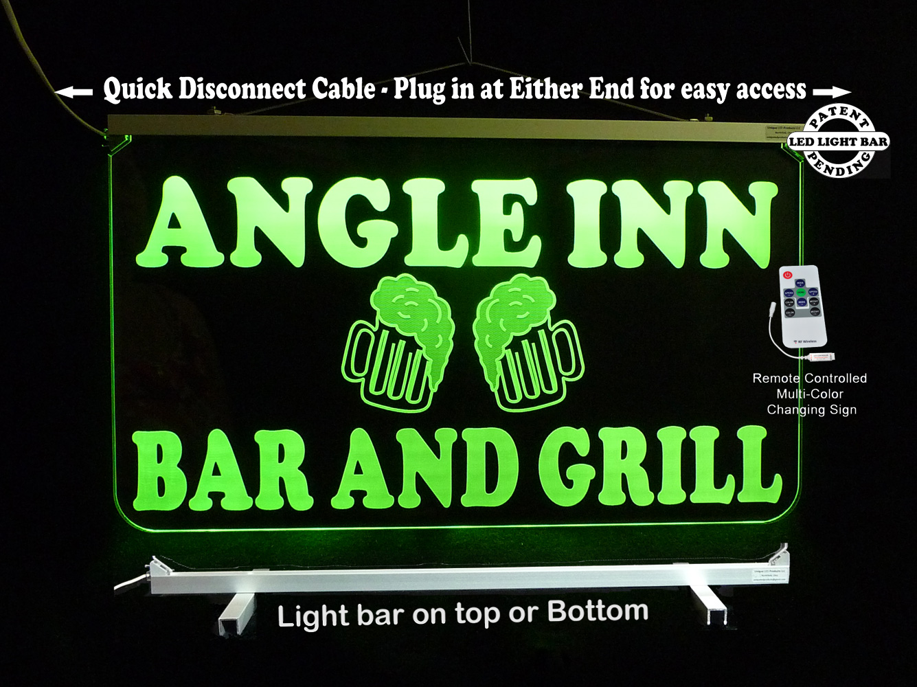 Personalized Bar Sign, Business Sign, Beer Mugs, LED Neon Man Cave Sign