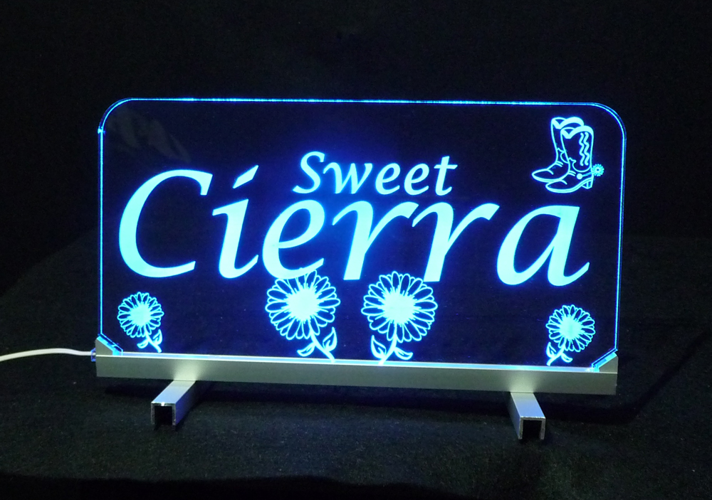 Personalized LED Sign, Flower sign, kids gift, Lamp
