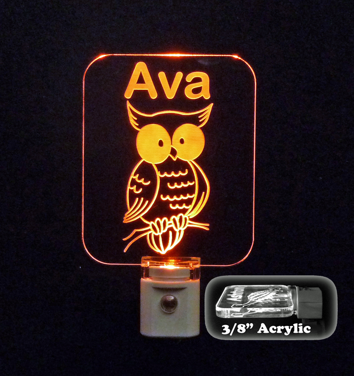 Personalized  Owl LED Night Light