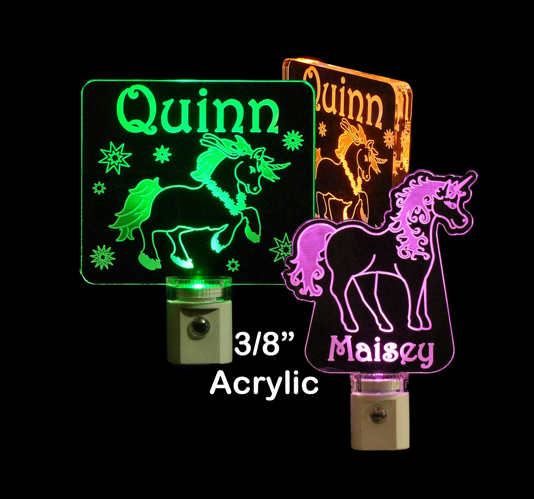 Girls Personalized Unicorn LED Night Light