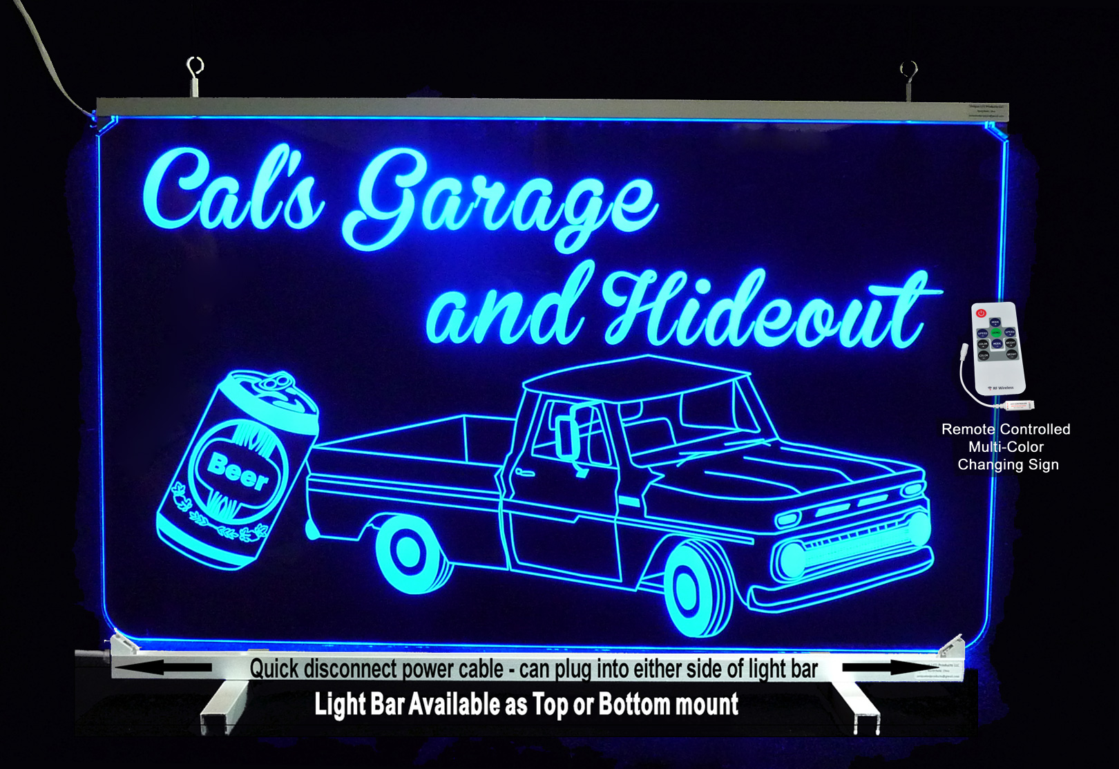 LED Man Cave Garage Personalized Truck Sign